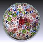 Click to view larger image of St. Louis 1976: Close pack millefiori piedouche paperweight (Image2)