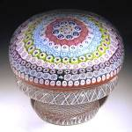 Click to view larger image of St. Louis 1972: Concentric millefiori piedouche paperweight (Image1)