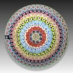 Click to view larger image of St. Louis 1972: Concentric millefiori piedouche paperweight (Image2)