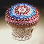 Click to view larger image of St. Louis 1991: Millefiori mini-piedouche paperweight (Image1)