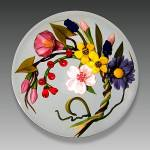 Chris Buzzini 1992: Floral wreath paperweight