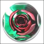 Click to view larger image of Joe St. Clair crimped rose paperweight (Image2)