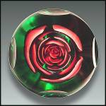 Click to view larger image of Joe St. Clair crimped rose paperweight (Image3)
