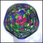 Click to view larger image of Pairpoint floral pedestal paperweight (Image2)