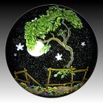 Mayauel Ward 2013: Tree and full moon paperweight