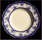 Click here to enlarge image and see more about item Z115: Flow Blue: HAMILTON flanged soup bowl