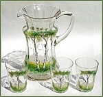Hand-painted pitcher set