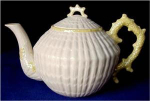 Click here to enlarge image and see more about item Z274: Irish Belleek LIMPET teapot