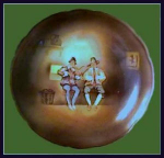 "Click here to enlarge image and see more about item Z320: Royal Bayreuth ""Musicians"" footed bowl"