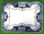 Click here to enlarge image and see more about item Z482: Flow Blue: DOUGLAS platter (Ford & Sons)