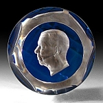 D�Albret: King of Sweden sulphide paperweight