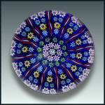 Perthshire: Patterned millefiori and twist cane paperweight