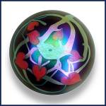 Lundberg Studios 1973:Hearts and vines paperweight