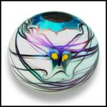 Click to view larger image of Lundberg Studios 1975: Butterfly and flower paperweight (DS) (Image2)