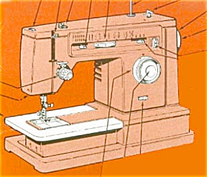 PRINTED Singer 6106 sewing machine instruction manual (smm120) (Image1)