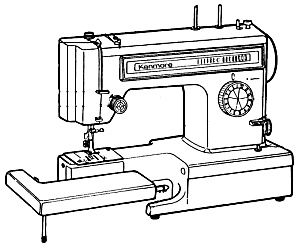 DOWNLOAD / PDF Kenmore by Sears 1345 sewing machine manual (smm1412apdf) (Image1)
