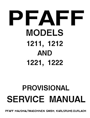 PRINTED Pfaff 1211 sewing machine repair manual (smm1560pdf) (Image1)