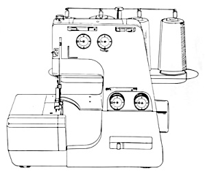 DOWNLOAD / PDF White model 534 superlock serger sewing machine manual (smm1897pdf) (Image1)