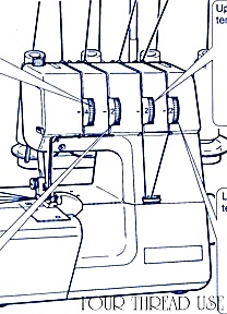 PRINTED White model 734, 734DW Superlock overlock sewing machine manual (smm2212a) (Image1)