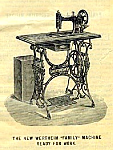 PRINTED Wertheim Cylinder Arm treadle sewing machine manual (smm365d) (Image1)