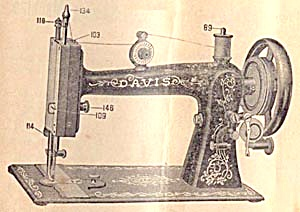 Davis Vertical Feed High Arm sewing machine manual (Image1)