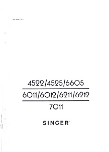 PRINTED Singer 6011 sewing machine manual (smm578c) (Image1)