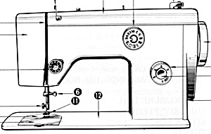 PRINTED Riccar 500 flat bed sewing machine instruction manual (smm707a) (Image1)