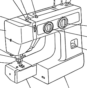 Janome JA 1508 sewing machine manual (Image1)