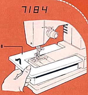PRINTED Singer 7184 sewing machine manual (smm852a) (Image1)