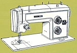 Click here to enlarge image and see more about item smm011: PRINTED Kenmore by Sears 1703 sewing machine manual (smm011)