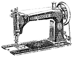 Click here to enlarge image and see more about item smm019: PRINTED Singer 9 w 7 sewing machine manual (smm019)