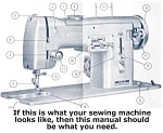 Click here to enlarge image and see more about item smm039a: PRINTED Nora by Necchi sewing machine manual (smm039a)