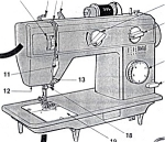 Click here to enlarge image and see more about item smm046: PRINTED Singer 05 sewing machine manual (smm046)