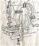 Click here to enlarge image and see more about item smm1001: PRINTED New Home Little Worker Midget sewing machine manual (smm1001)