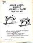 Click here to enlarge image and see more about item smm1020a: PRINTED Singer 500 and 503 repair sewing machine manual (smm1020a)