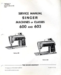 Click here to enlarge image and see more about item smm1022: PRINTED Singer 600 and 603 repair sewing machine manual (smm1022)