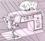 Click here to enlarge image and see more about item smm1098: PRINTED Singer 706 sewing machine instruction manual (smm1098)