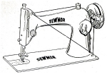 Click here to enlarge image and see more about item smm1106: Sewmor model 404 sewing machine manual