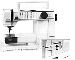 Click here to enlarge image and see more about item smm1124a: Husqvarna 150 E Optima sewing machine manual