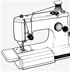 Click here to enlarge image and see more about item smm1160b: PRINTED Kenmore by Sears 1040 sewing machine manual (smm1160b)