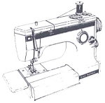 Click here to enlarge image and see more about item smm1160d: PRINTED Kenmore by Sears 1050 sewing machine manual (smm1160d)