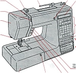 Click here to enlarge image and see more about item smm1198: PRINTED Kenmore by Sears 385.19150 sewing machine manual (smm1198)