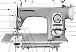 Click here to enlarge image and see more about item smm1220: Brother Super Flairmatic 190 B sewing machine manual