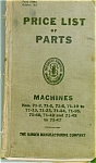 Click here to enlarge image and see more about item smm122: Singer 71 sewing machine parts book original