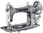 Click here to enlarge image and see more about item smm1242: Eldredge model B sewing machine manual