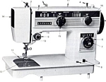 Click here to enlarge image and see more about item smm1244a: PRINTED Morse model 5201 stretch stitch sewing machine manual (smm1244a)
