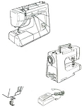 Click here to enlarge image and see more about item smm124: PRINTED Kenmore by Sears 385.11608 sewing machine manual (smm124)