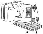 Click here to enlarge image and see more about item smm1256: PRINTED Kenmore by Sears 1950 sewing machine manual (smm1256)