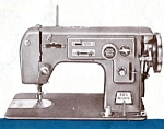 Click here to enlarge image and see more about item smm1264: PRINTED Automatic zig-zag model 305 Deluxe sewing machine manual (smm1264)