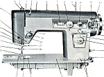 Click here to enlarge image and see more about item smm1393: PRINTED Un named sewing machine manual (smm1393)
